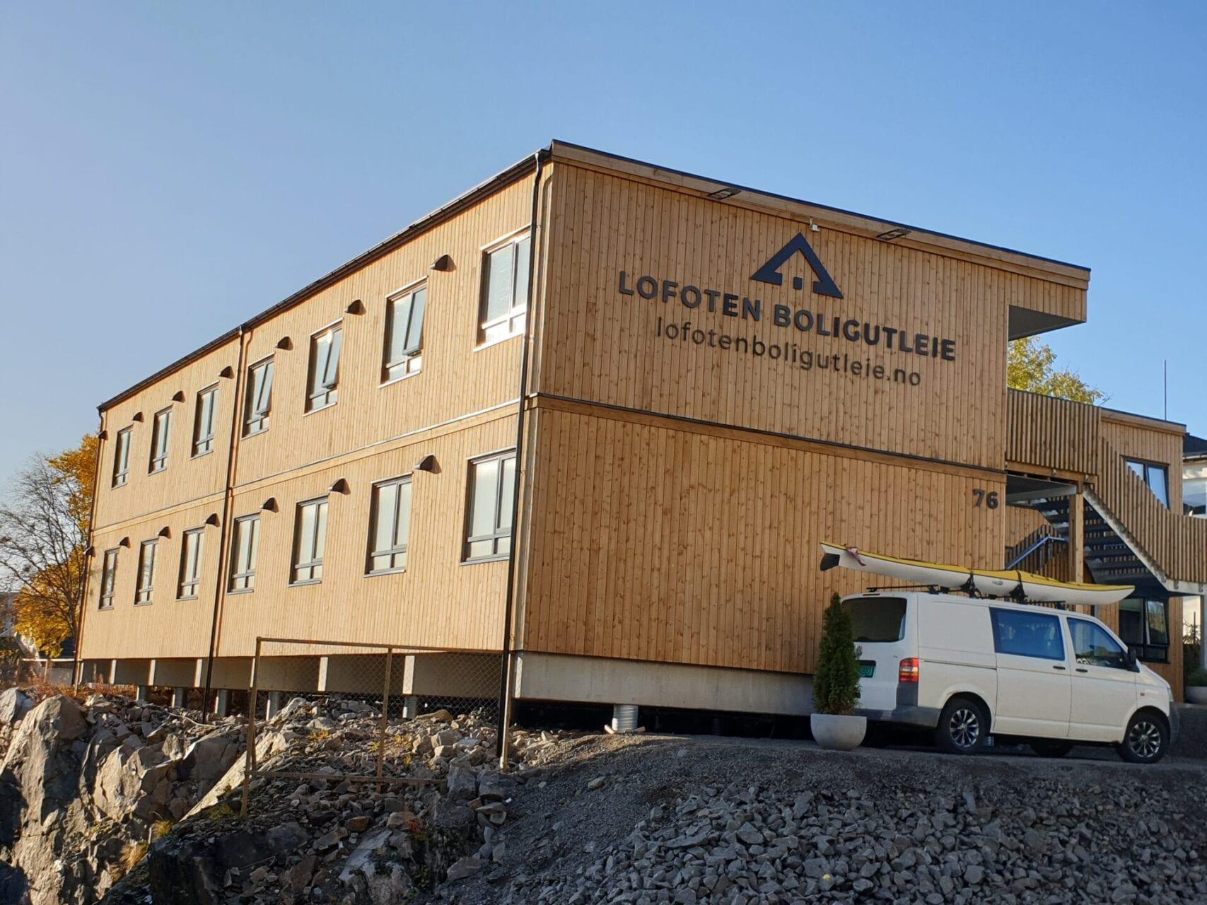 Bilde av et utleiebygg i Lofoten