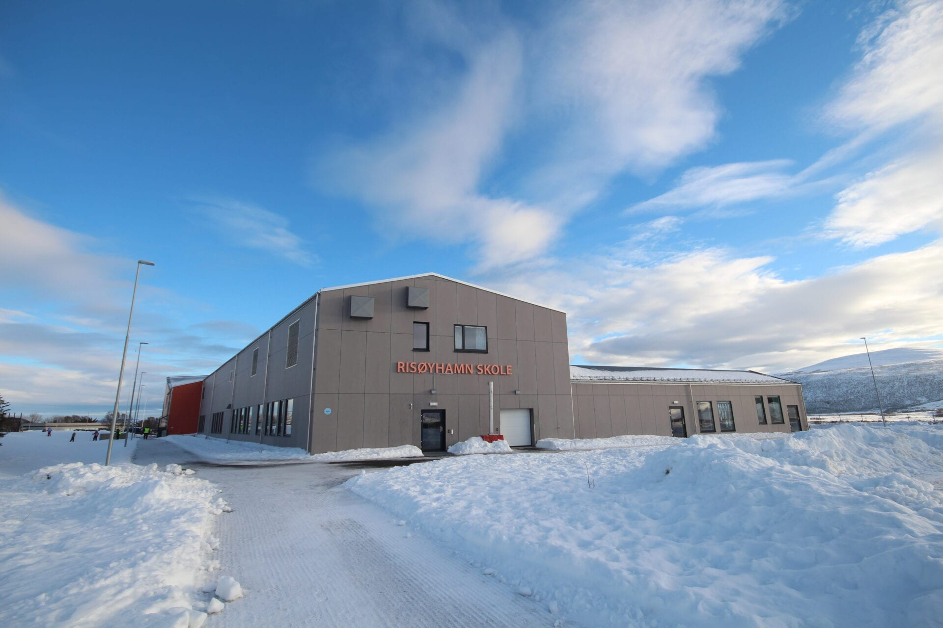 Risøyhamn skole utvendig